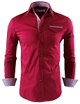 Mens Premium Casual Inner Layered Dress Shirt